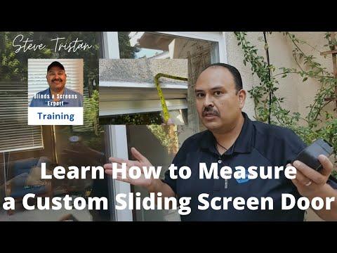 Measuring an EZ Slide Patio Sliding Screen Door