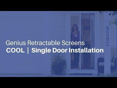 Genius Retractable Screens - Single Door Installation