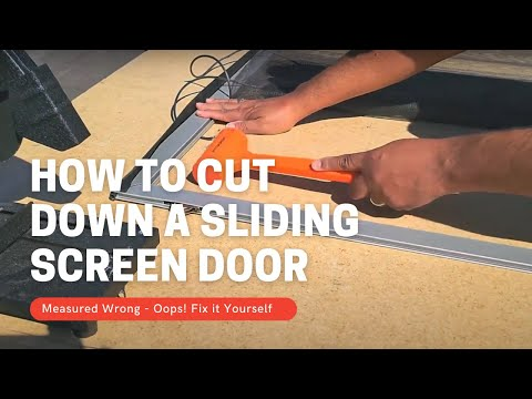How to Cut Down a Sliding Screen Door - Economy Steel Frame