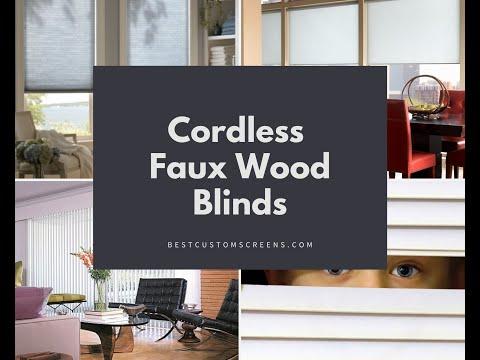Benefits of Cordless Faux Wood Blinds - Los Angeles, CA, Steve Tristan give details