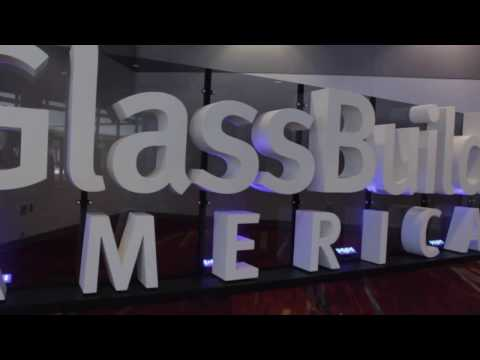 Glass Build America industry show clip at Las Vegas Convention Center