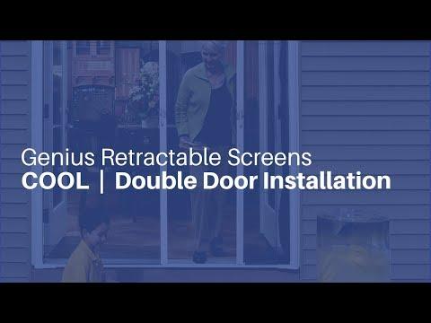 Genius Retractable Screens - Double Door Installation