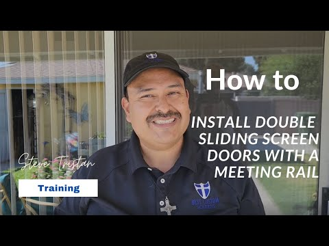 How to install 2 panel sliding screen doors that meet in the center