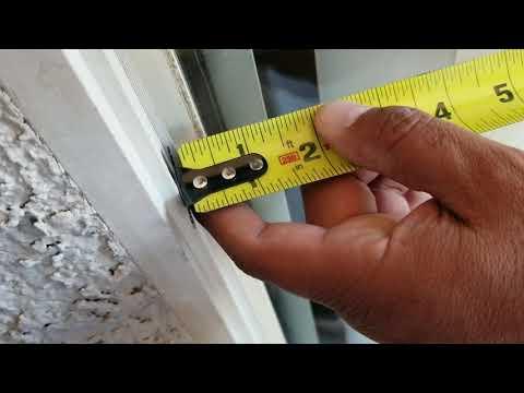 Window damaged measure screens