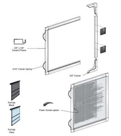 "Window Screens 5/16"" x 3/4"" for Vinyl Windows"
