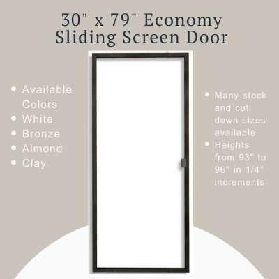 Product image 30 x 77 Economy Sliding Screen Door