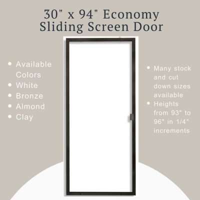 product image for the 30 x 94 sliding screen door