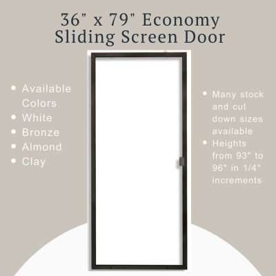 Product image of 36x79 sliding screen door economy