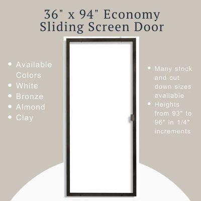 "Product image of the 36""x94"" Economy Sliding Screen Door"