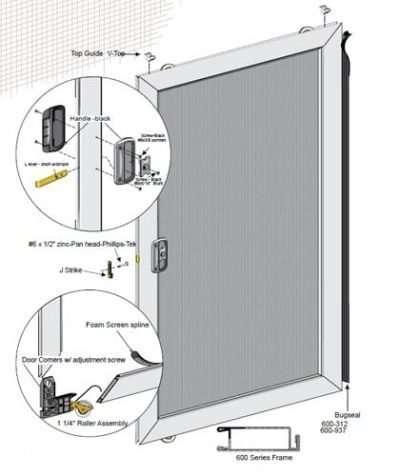 Unassembled Economy Sliding Screen Door kit