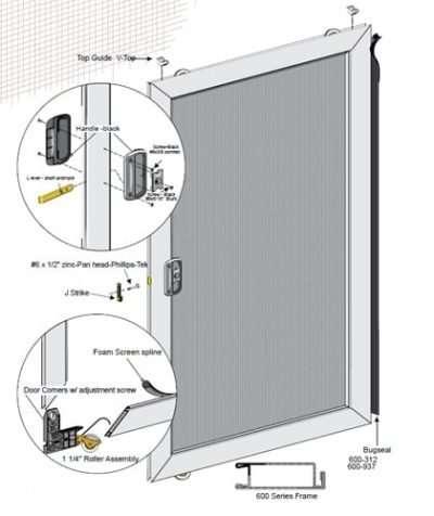 Unassembled Economy Sliding Screen Door