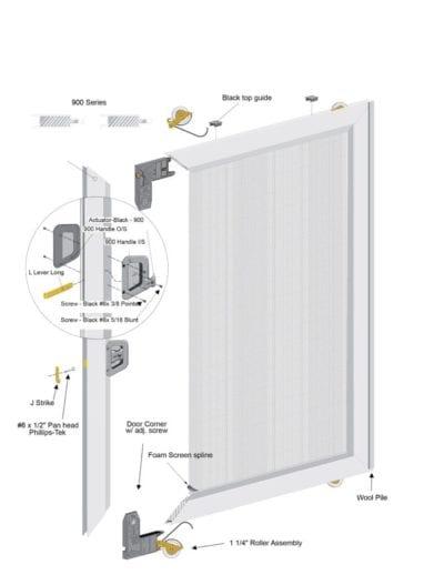 Aluminum Sliding Screen Door