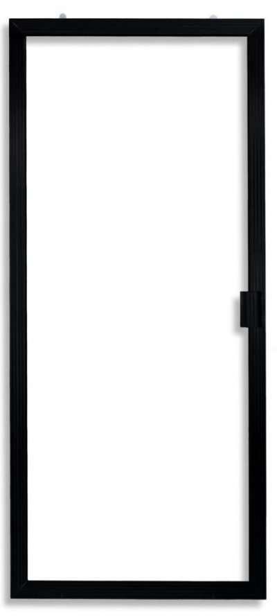 Super Duper Heavy Duty Sliding Screen Door in Black