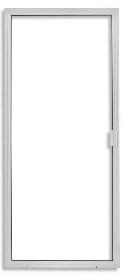 Super Duper Heavy Duty Sliding Screen Door in Clear Anodized