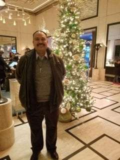 Director of Operations Steve Tristan in New York during Christmas
