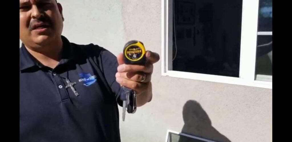 Steve shows small tape measure