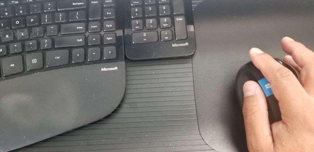 Working hard on computer